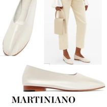 MARTINIANO Suede Plain Leather Ballet Shoes