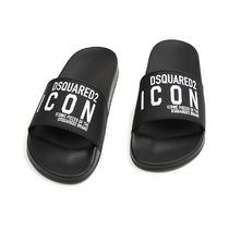 D SQUARED2 Street Style Shower Shoes PVC Clothing Logo Shower Sandals