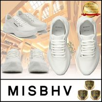 MISBHV Platform Rubber Sole Casual Style Street Style Plain Leather