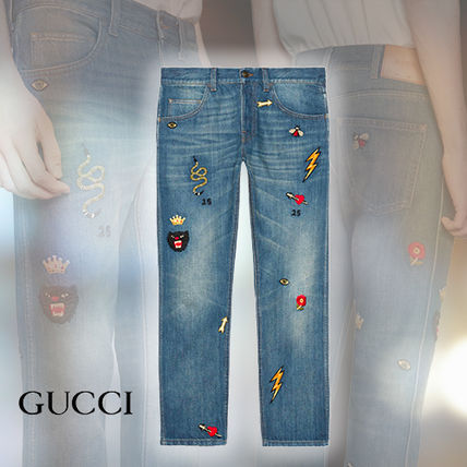 GUCCI More Jeans Tapered Jeans With Symbols