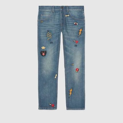 GUCCI More Jeans Tapered Jeans With Symbols 2