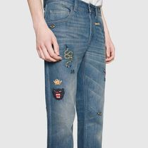 GUCCI More Jeans Tapered Jeans With Symbols 6