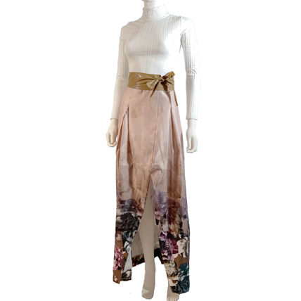 Flower Patterns Casual Style Maxi Long Party Style
