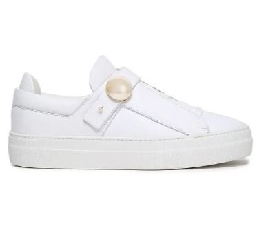 Round Toe Rubber Sole Lace-up Plain Leather Low-Top Sneakers