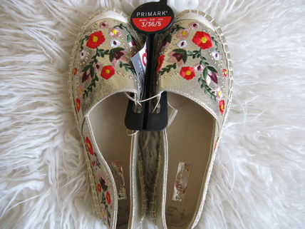 Flower Patterns Casual Style Street Style Slip-On Shoes