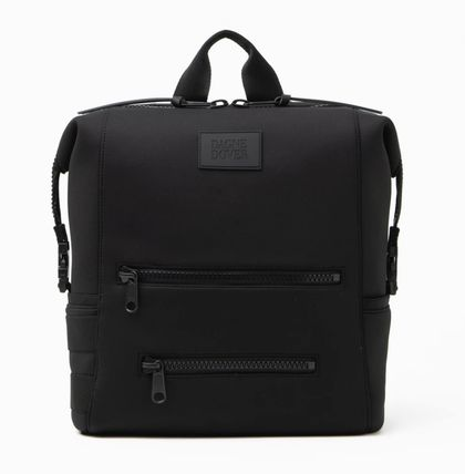 Casual Style A4 Plain Logo Backpacks