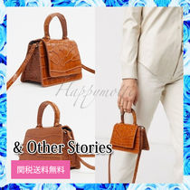 & Other Stories Casual Style Plain Leather Party Style Crossbody