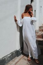 Maurie and Eve Platinum Casual Style Maxi Linen Plain Party Style Elegant Style