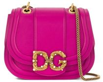 D&G Calfskin Leather Logo Shoulder Bags