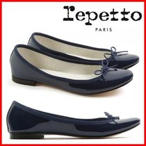 repetto Round Toe Plain Party Style Elegant Style Flats