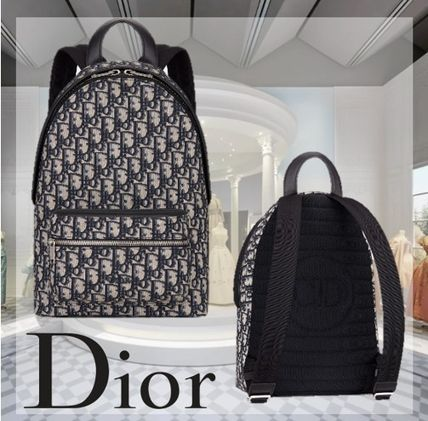 Christian Dior DIOR OBLIQUE Blended Fabrics Street Style Kids Girl Bags