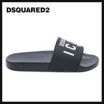 D SQUARED2 Unisex Street Style Shower Shoes PVC Clothing Logo
