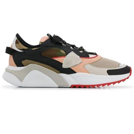 Camouflage Leather Logo Sneakers