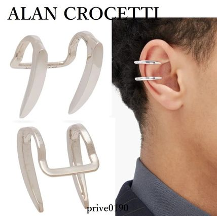 ALAN CROCETTI Earrings Unisex Plain Silver Earrings