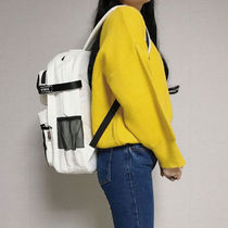 WHO.A.U Casual Style Street Style A4 Plain Logo Backpacks