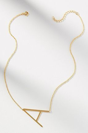 Casual Style Initial Party Style Brass Office Style