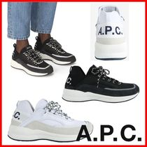 A.P.C. Casual Style Unisex Street Style Logo Low-Top Sneakers