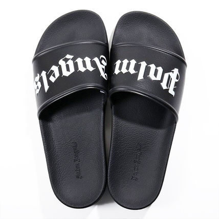 Palm Angels Flipflop Logo Unisex Street Style Sport Sandals Shower Shoes