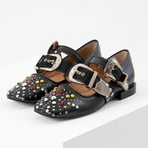 TOGA Casual Style Studded Plain Pumps & Mules