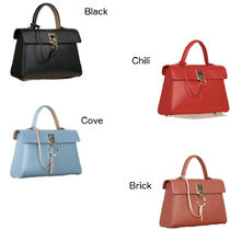 CAFUNE Casual Style 2WAY Plain Leather Party Style Office Style