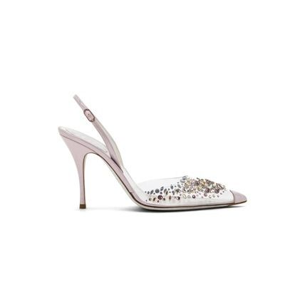 Suede Pin Heels Party Style With Jewels Elegant Style Bridal