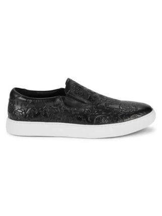 Skull Street Style Plain Leather Sneakers