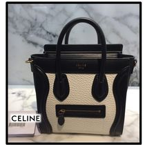 CELINE Luggage Casual Style Calfskin Leather Elegant Style Formal Style