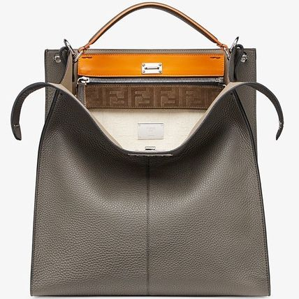 FENDI SELLERIA Unisex Calfskin 2WAY Plain Totes