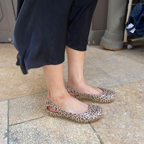 CROCS Leopard Patterns Casual Style Street Style Plain