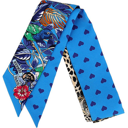 HERMES Unisex Collaboration Lightweight Scarves & Shawls