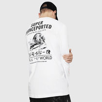 DIESEL Crew Neck Sweat Street Style Long Sleeves Cotton