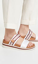 See by Chloe Stripes Open Toe Rubber Sole Casual Style Street Style