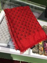 GUCCI Gucci Ghost Knit & Fur Scarves