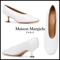 Maison Margiela Plain Leather Chunky Heels Formal Style