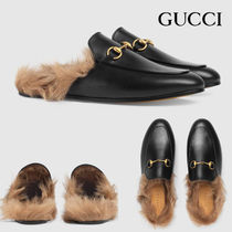 GUCCI Rubber Sole Casual Style Unisex Blended Fabrics Street Style