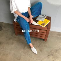 Casual Style Plain Long Elegant Style Glitter Icy Color