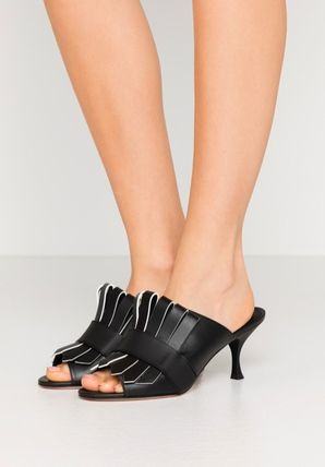Open Toe Casual Style Plain Leather Party Style Office Style