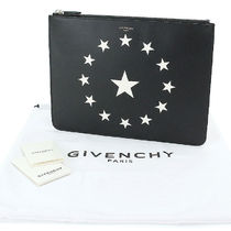 GIVENCHY Star Casual Style Unisex Calfskin Street Style A4 Leather