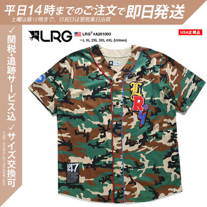 Polos Logo Front Button Military 迷彩 Unisex 棉花 短袖 街头风格 卡其色