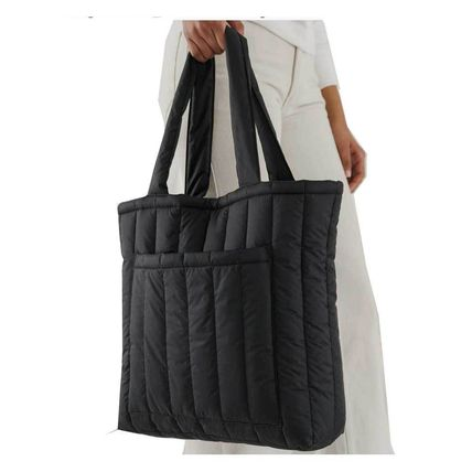 Casual Style Nylon A4 Plain Office Style Oversized Totes