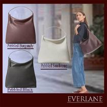 Everlane Plain Leather Office Style Shoulder Bags