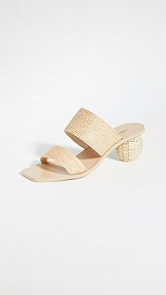 Open Toe Casual Style Plain Office Style Mules Formal Style
