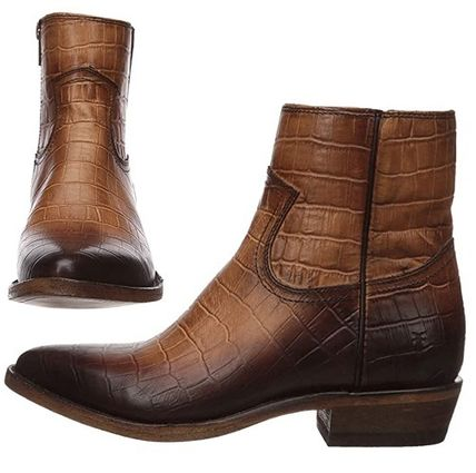 Cowboy Boots Studded Plain Other Animal Patterns Leather