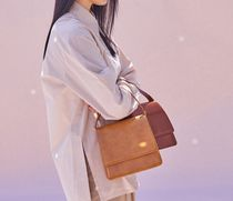 AVAM 2WAY Plain Leather Elegant Style Crossbody Shoulder Bags