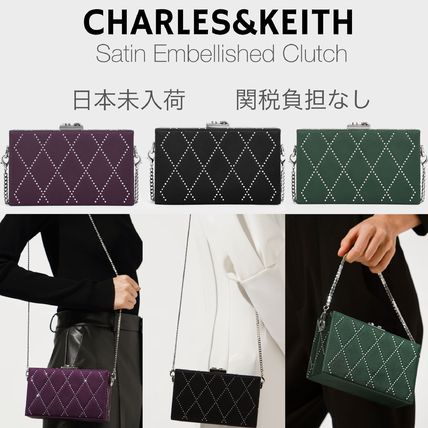 Charles&Keith Crossbody Formal Style  Bridal Casual Style 2WAY Chain