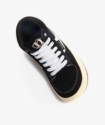 Suede Plain Logo Sneakers