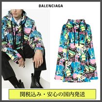 BALENCIAGA Pullovers Street Style Long Sleeves Cotton Oversized Logo
