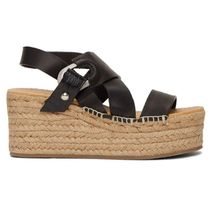 rag & bone Open Toe Round Toe Casual Style Plain Leather Sandals Sandal