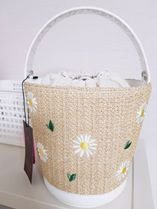 HIGH CHEEKS Flower Patterns Casual Style Leather Elegant Style Crossbody