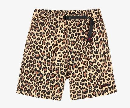 Leopard Patterns Unisex Nylon Street Style Shorts